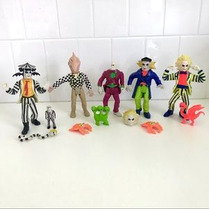 Vintage 1980's Beetlejuice action figures set